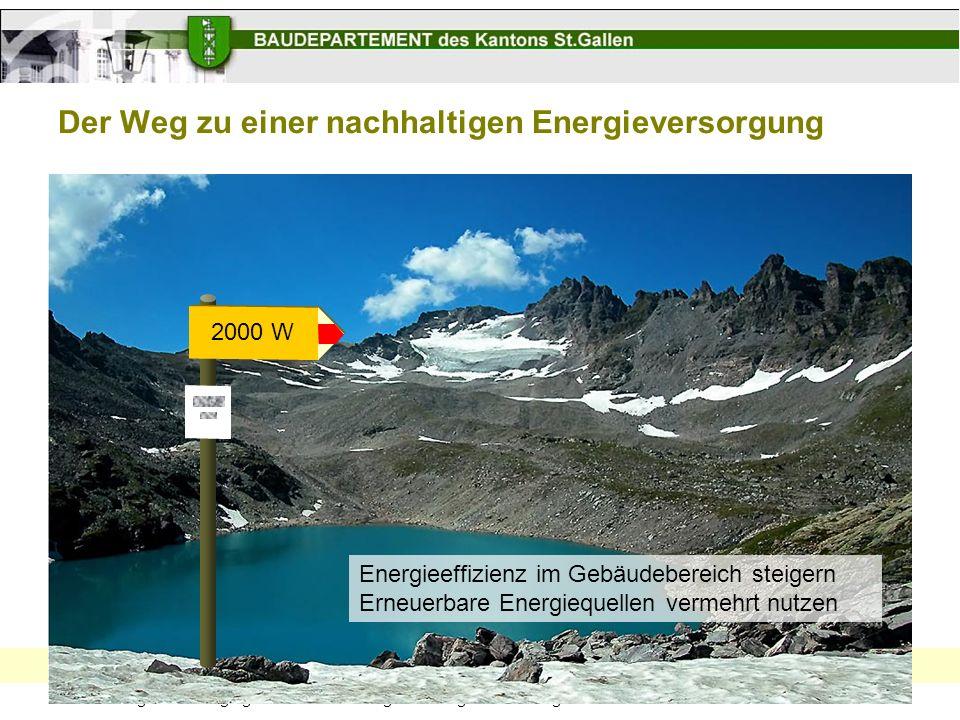 Der Weg zu einer nachhaltigen Energieversorgung