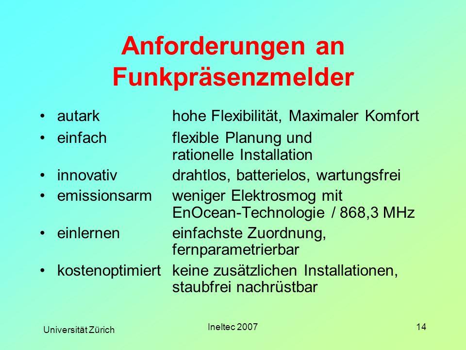 Anforderungen an Funkpräsenzmelder