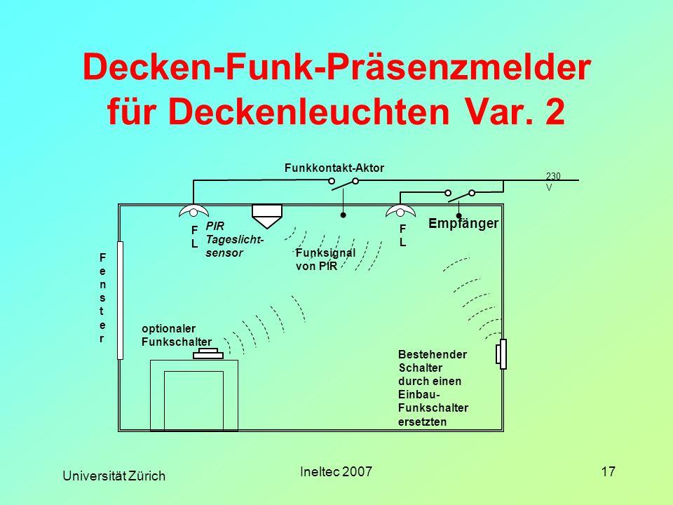 Decken-Funk-Präsenzmelder für Deckenleuchten Var. 2