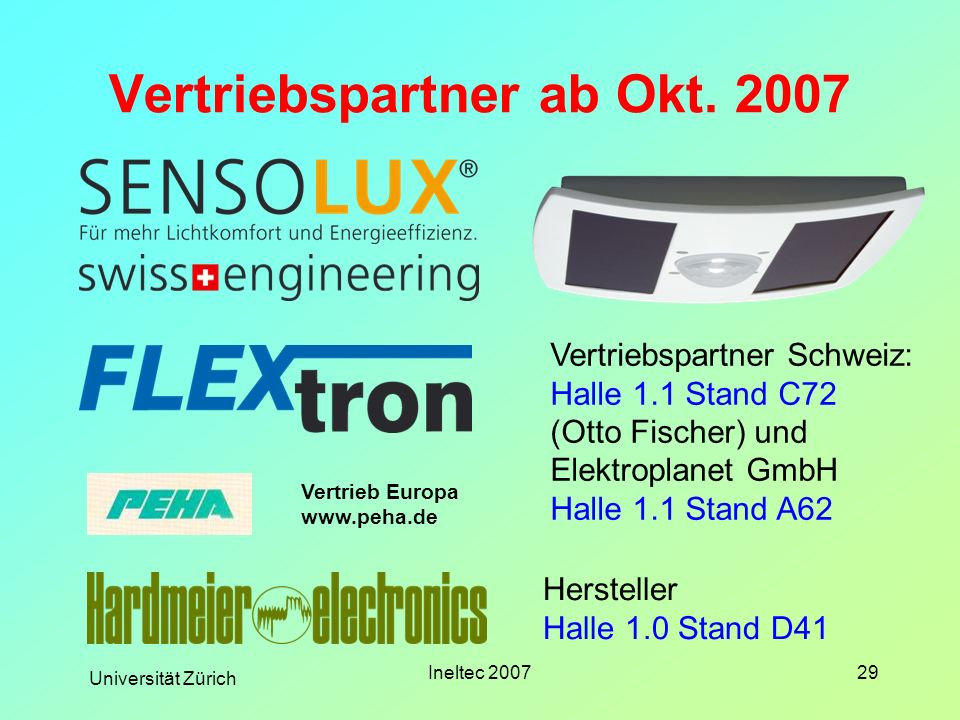 Vertriebspartner ab Okt. 2007