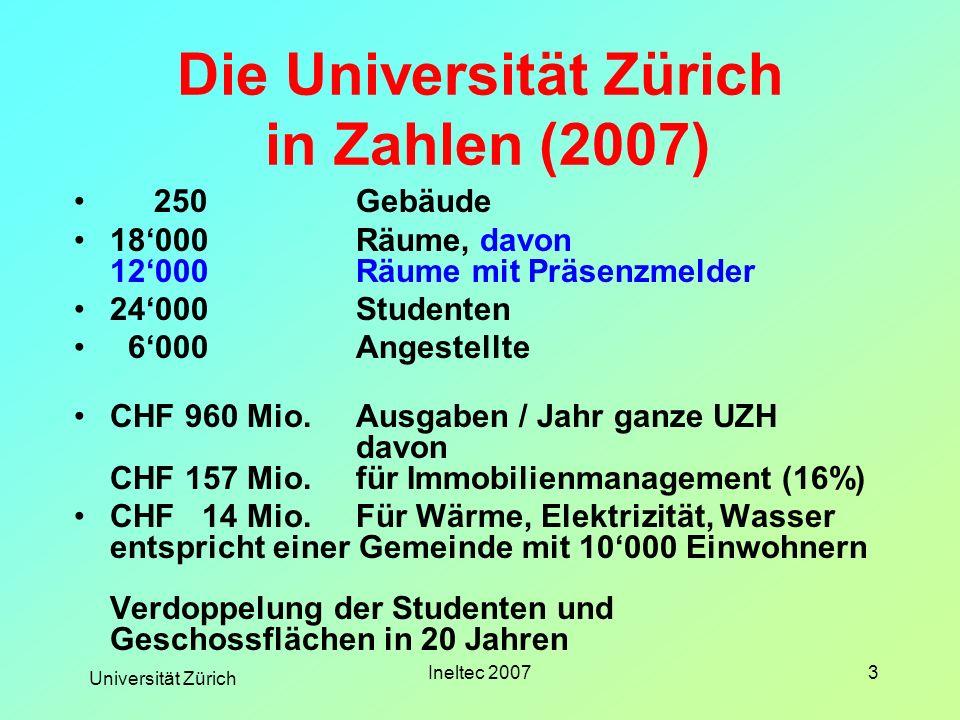 Die Universität Zürich in Zahlen (2007)