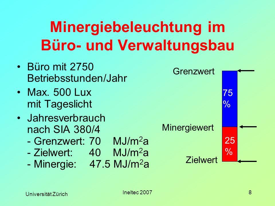 Minergiebeleuchtung im Büro- und Verwaltungsbau