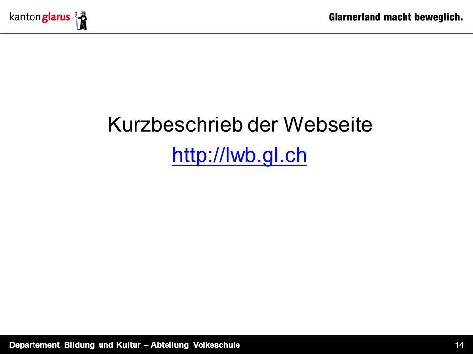 Kurzbeschrieb der Webseite http://lwb.gl.ch