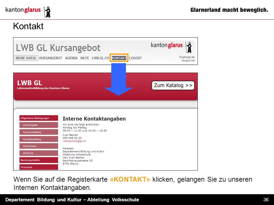 Kontakt Wenn Sie auf die Registerkarte «KONTAKT» klicken, gelangen Sie zu unseren Internen Kontaktangaben.