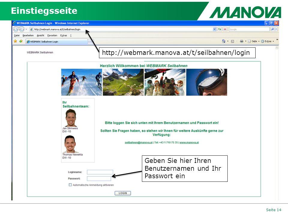 Einstiegsseite http://webmark.manova.at/t/seilbahnen/login