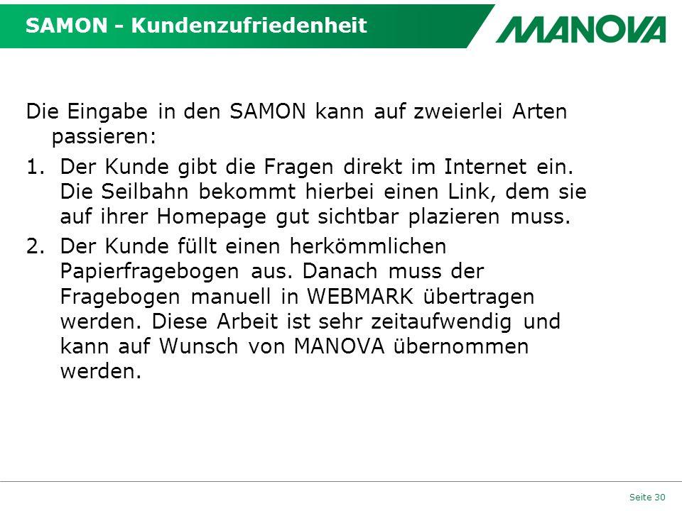 SAMON - Kundenzufriedenheit