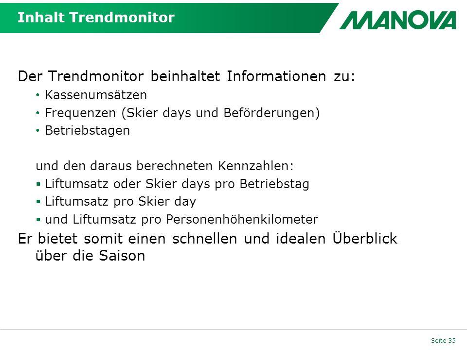 Der Trendmonitor beinhaltet Informationen zu: