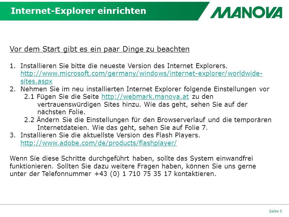 Internet-Explorer einrichten