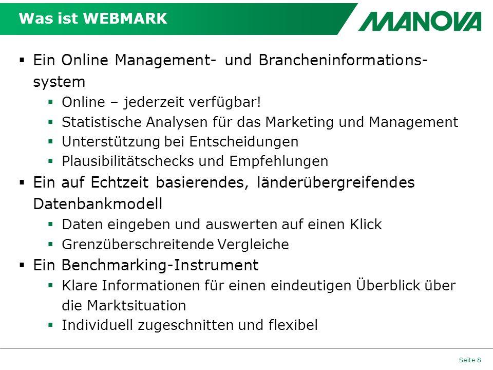 Ein Online Management- und Brancheninformations-system