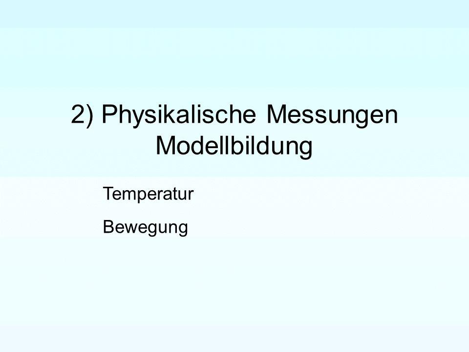 2) Physikalische Messungen Modellbildung