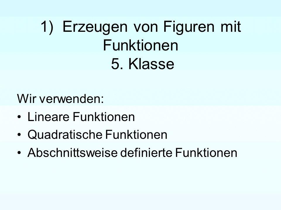 1) Erzeugen von Figuren mit Funktionen 5. Klasse