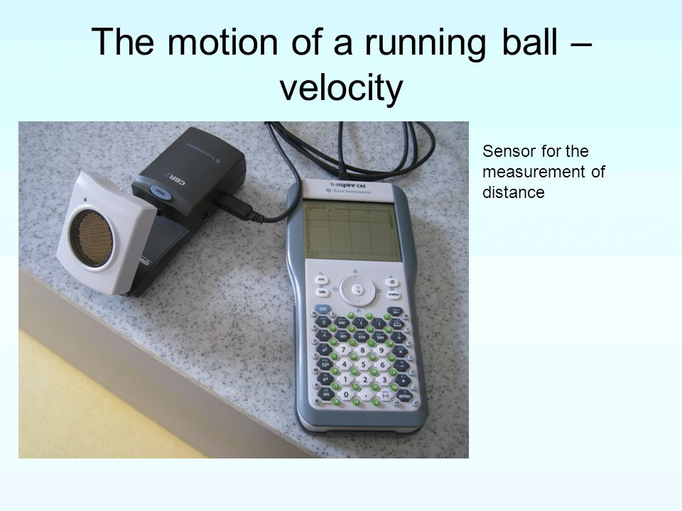 The motion of a running ball –velocity