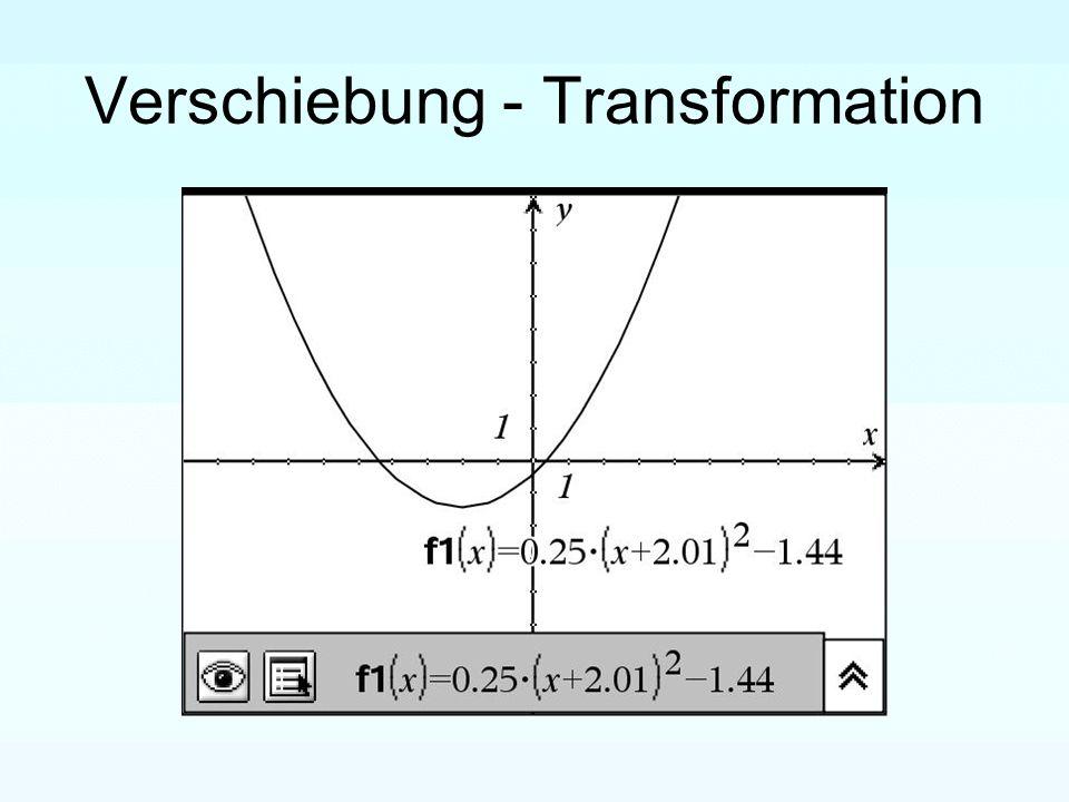 Verschiebung - Transformation