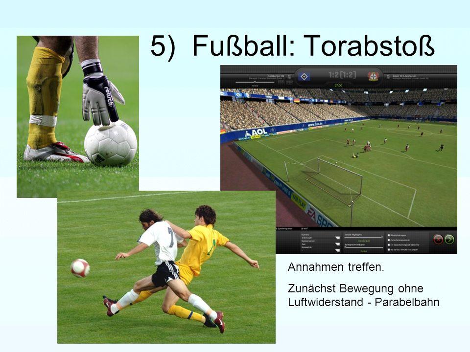 5) Fußball: Torabstoß Annahmen treffen.