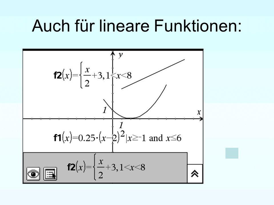 Auch für lineare Funktionen: