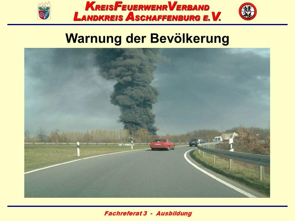 Warnung der Bevölkerung