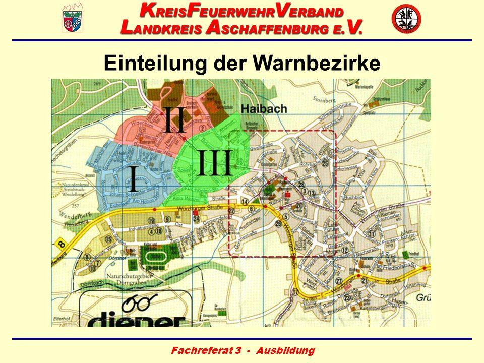 Einteilung der Warnbezirke