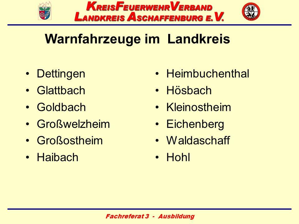 Warnfahrzeuge im Landkreis