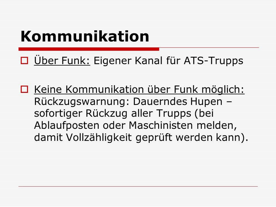 Kommunikation Über Funk: Eigener Kanal für ATS-Trupps