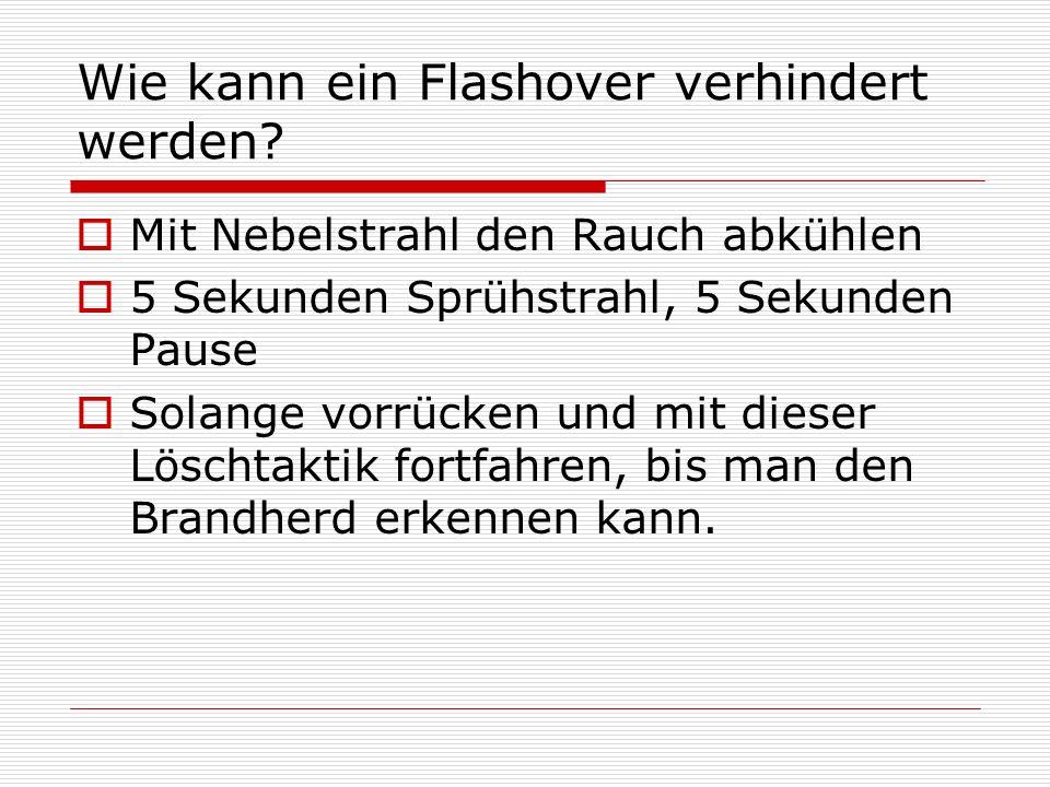Wie kann ein Flashover verhindert werden