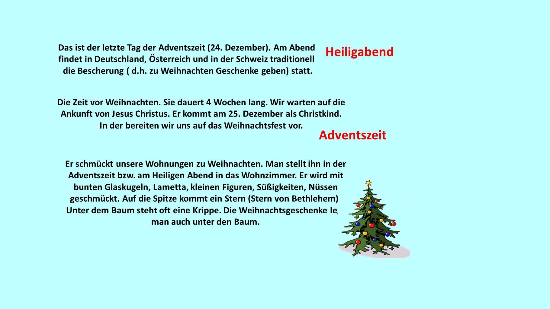 Heiligabend Adventszeit