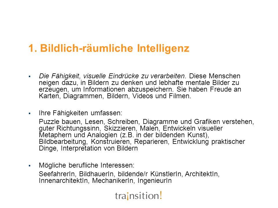 1. Bildlich-räumliche Intelligenz