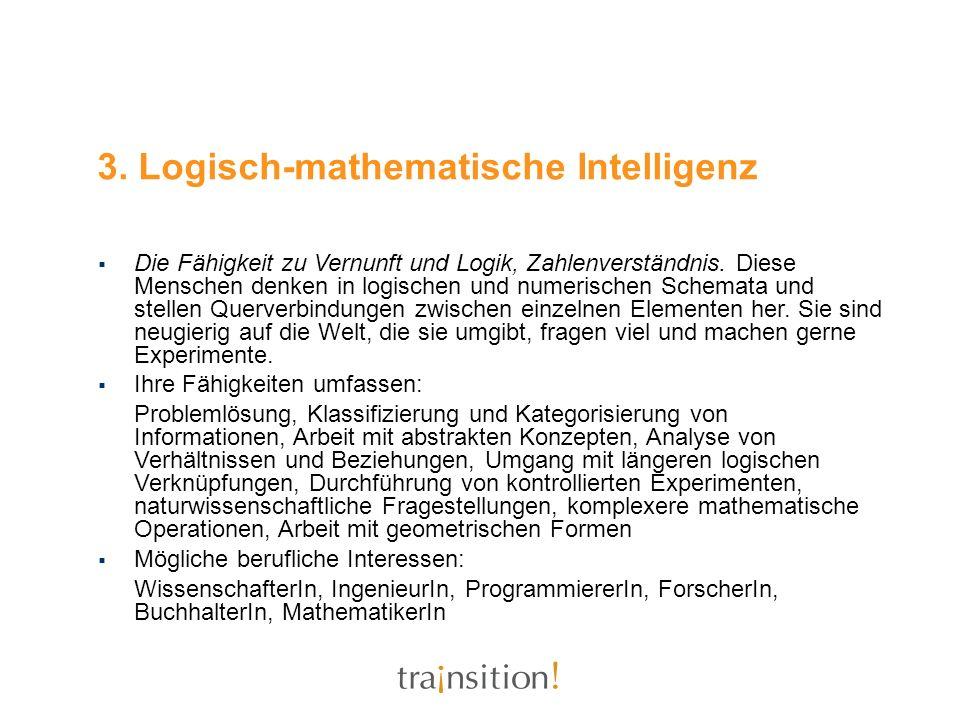 3. Logisch-mathematische Intelligenz
