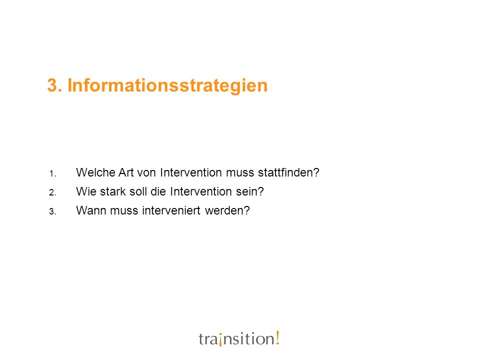 3. Informationsstrategien