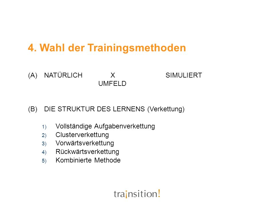 4. Wahl der Trainingsmethoden