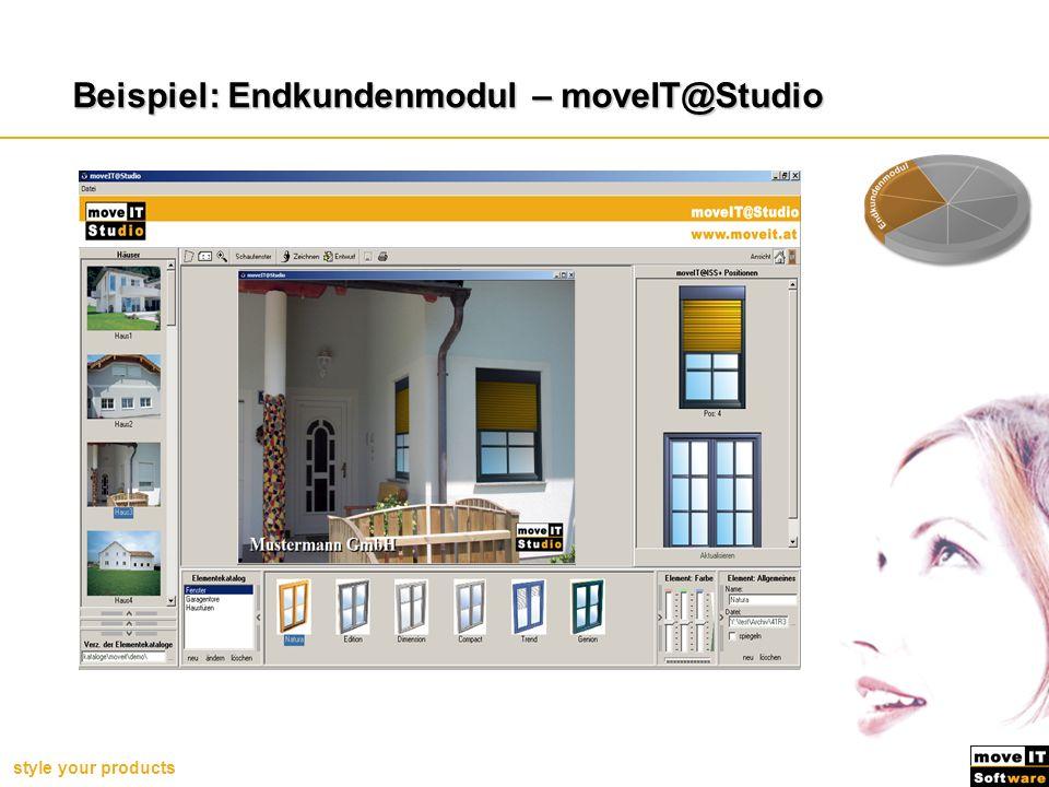 Beispiel: Endkundenmodul – moveIT@Studio