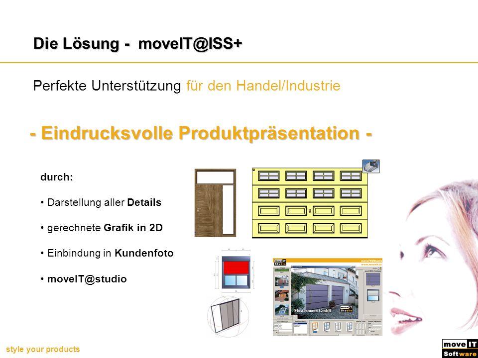 - Eindrucksvolle Produktpräsentation -