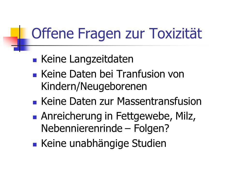Offene Fragen zur Toxizität