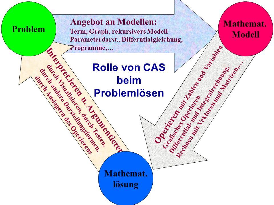 Rolle von CAS beim Problemlösen