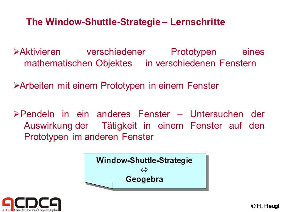 Window-Shuttle-Strategie