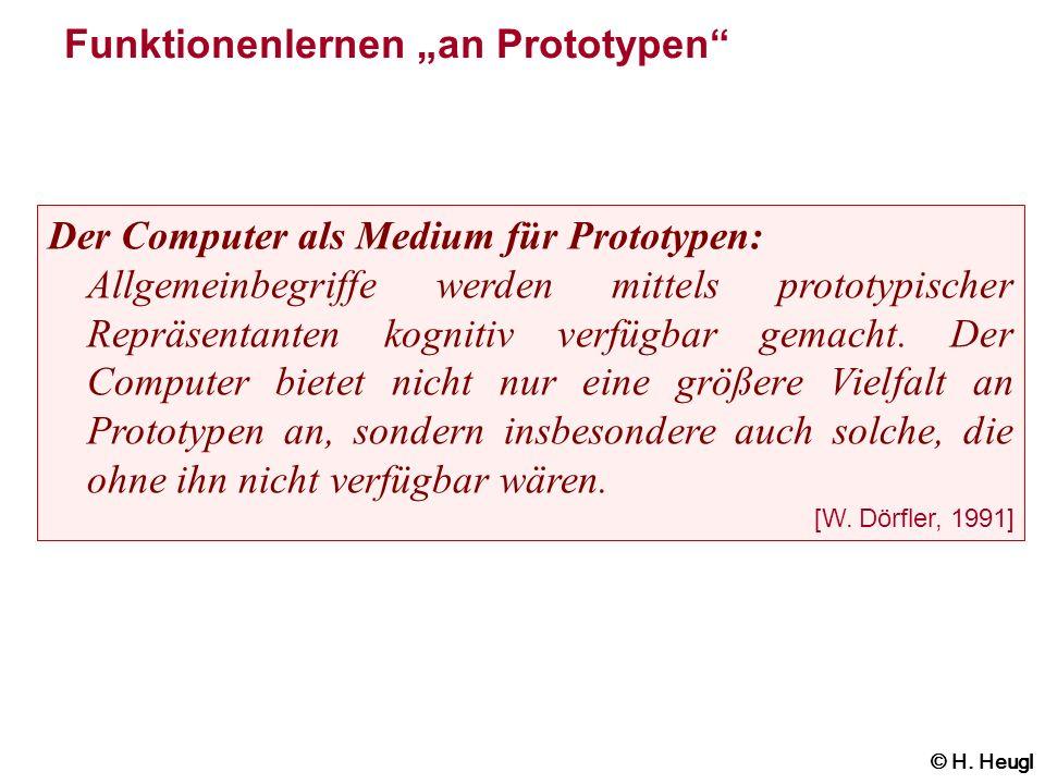 """Funktionenlernen """"an Prototypen"""
