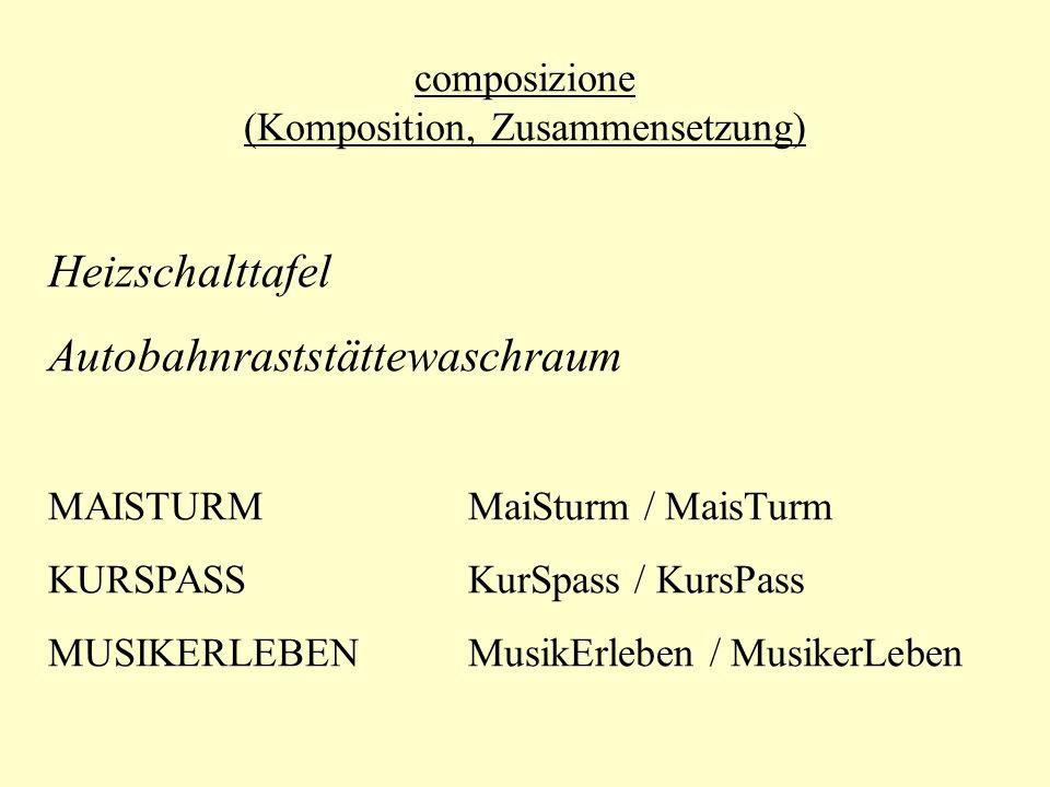 composizione (Komposition, Zusammensetzung)