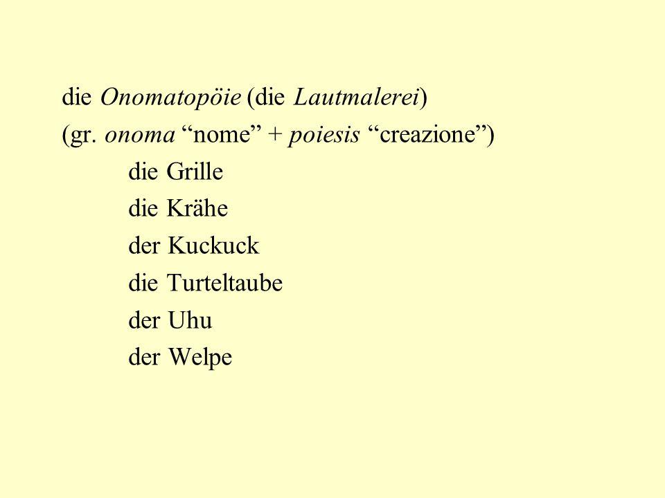 die Onomatopöie (die Lautmalerei)
