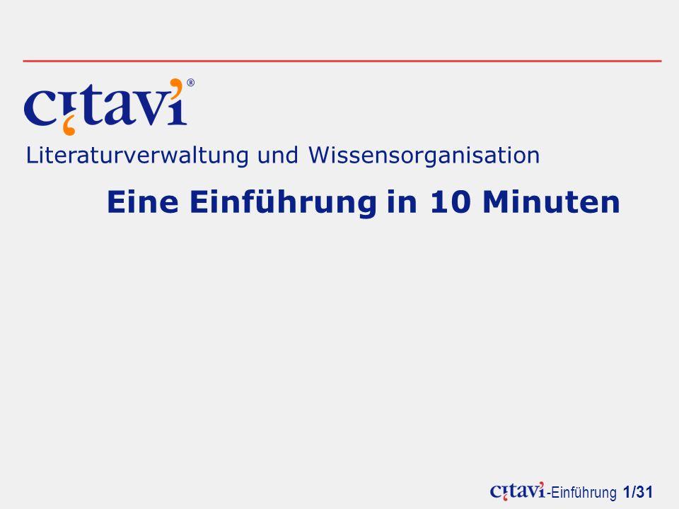 Eine Einführung in 10 Minuten