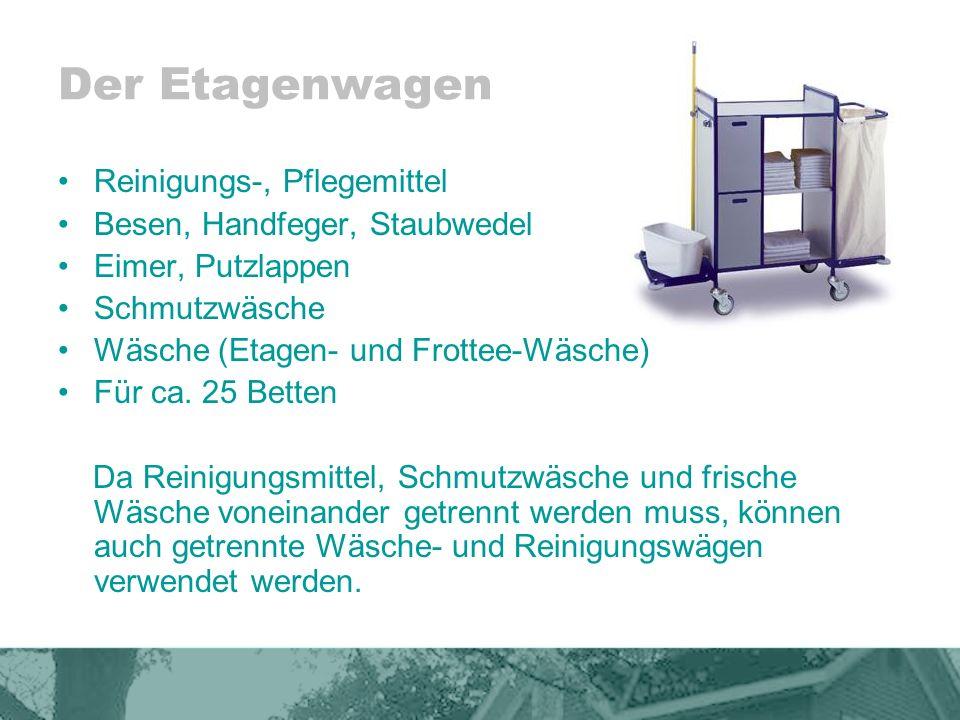 Der Etagenwagen Reinigungs-, Pflegemittel Besen, Handfeger, Staubwedel