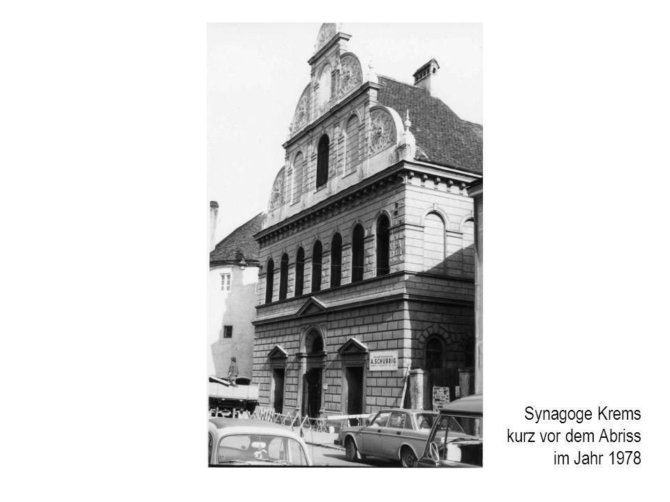 Synagoge Krems kurz vor dem Abriss im Jahr 1978