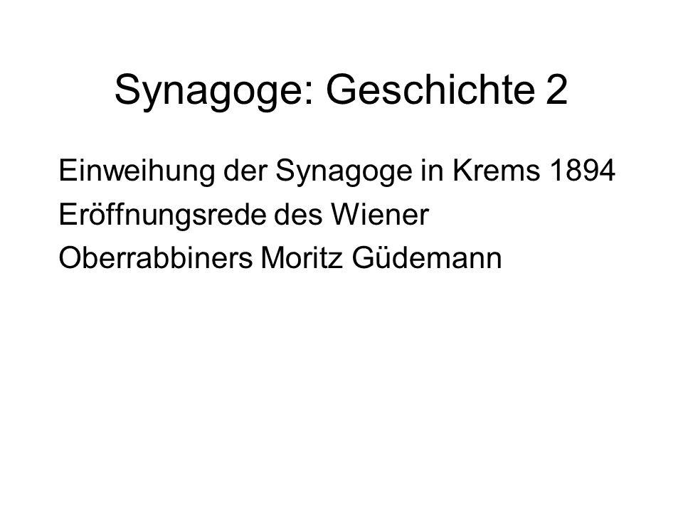 Synagoge: Geschichte 2 Einweihung der Synagoge in Krems 1894