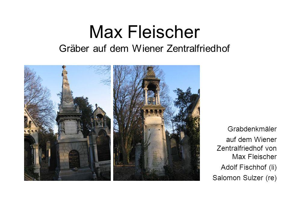 Max Fleischer Gräber auf dem Wiener Zentralfriedhof