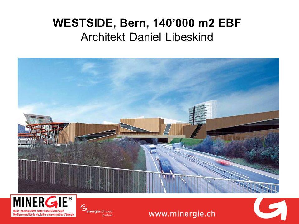 WESTSIDE, Bern, 140'000 m2 EBF Architekt Daniel Libeskind