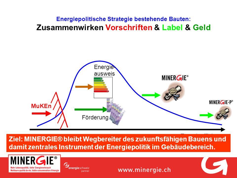Energiepolitische Strategie bestehende Bauten: Zusammenwirken Vorschriften & Label & Geld