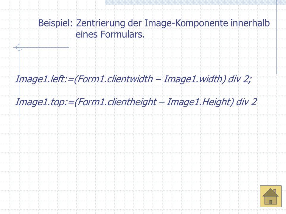 Beispiel: Zentrierung der Image-Komponente innerhalb