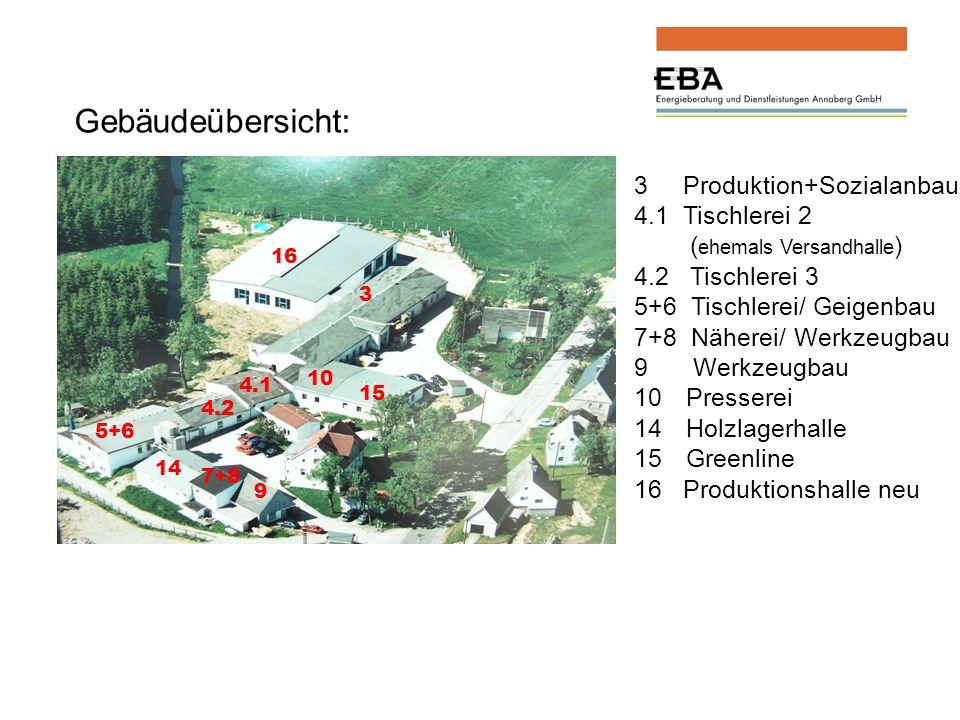 Gebäudeübersicht: 3 Produktion+Sozialanbau 4.1 Tischlerei 2