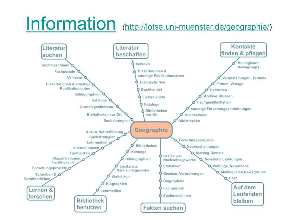 Information (http://lotse.uni-muenster.de/geographie/)