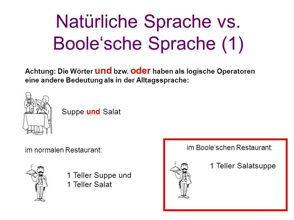 Natürliche Sprache vs. Boole'sche Sprache (1)