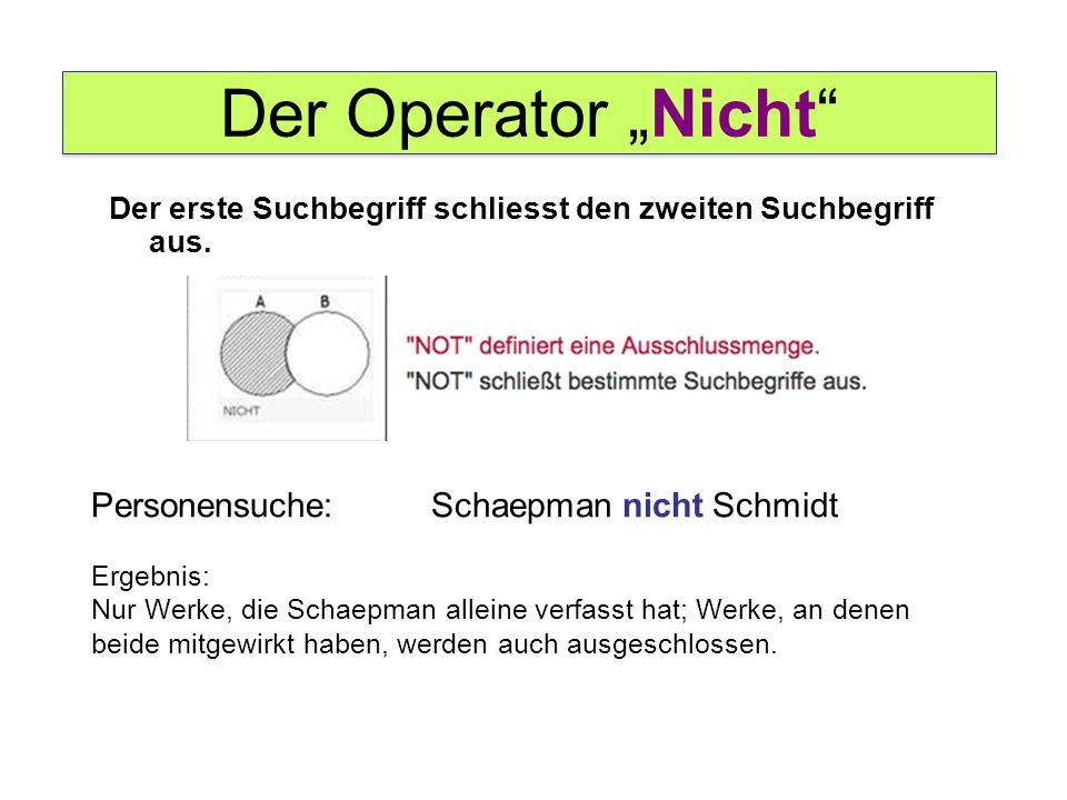 """Der Operator """"Nicht Personensuche: Schaepman nicht Schmidt"""