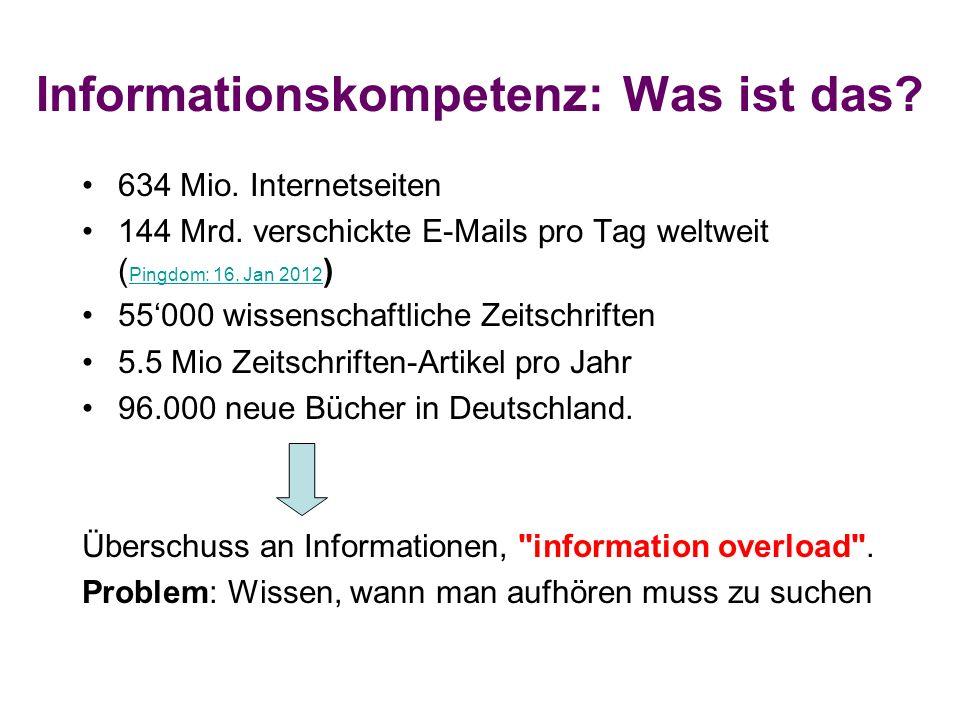 Informationskompetenz: Was ist das